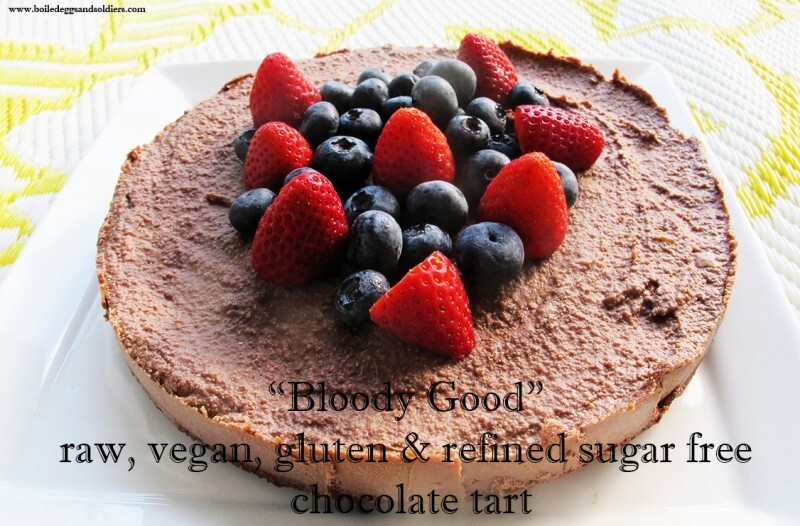 """Bloody good"" raw, vegan, gluten & sugar free chocolate tart"