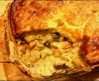 Creamy Chicken, Leek and Mushroom Pie with Tarragon (includes Thermomix method and gluten free options)