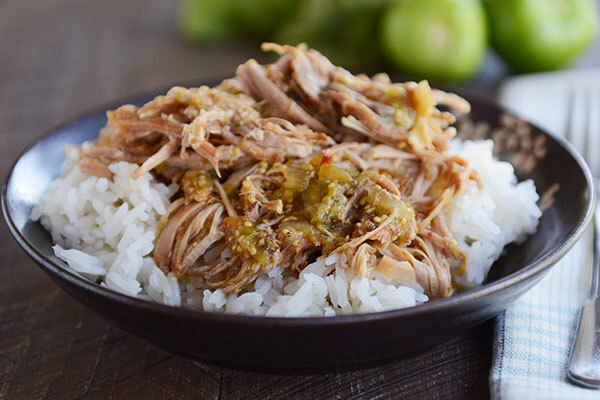 Slow Cooker Sweet Tomatillo Chipotle Pork