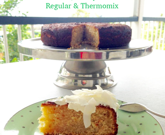 Lime & Coconut, Honey Olive Oil Cake (refined sugar free, regular & Thermomix)