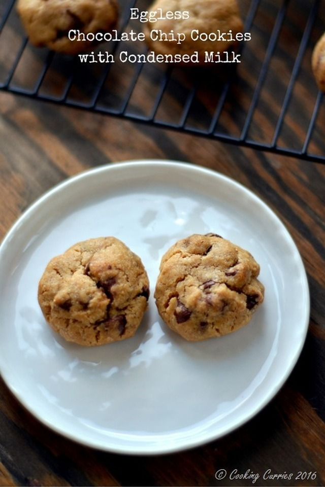 Eggless Chocolate Chip Cookies