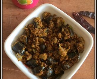 Brinjal Curry With Roasted Chanadal Powder | Vankaya putnala podi koora | Eggplant Dry Curry For Rice | Baingan Subji