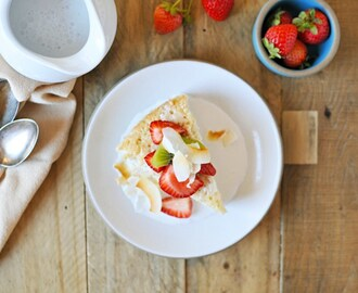 Triple Coconut Tres Leches Cake with Honey-Vanilla Summer Fruit (DF/GF)