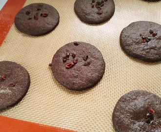 Some chocolate cookies from Modern Baker