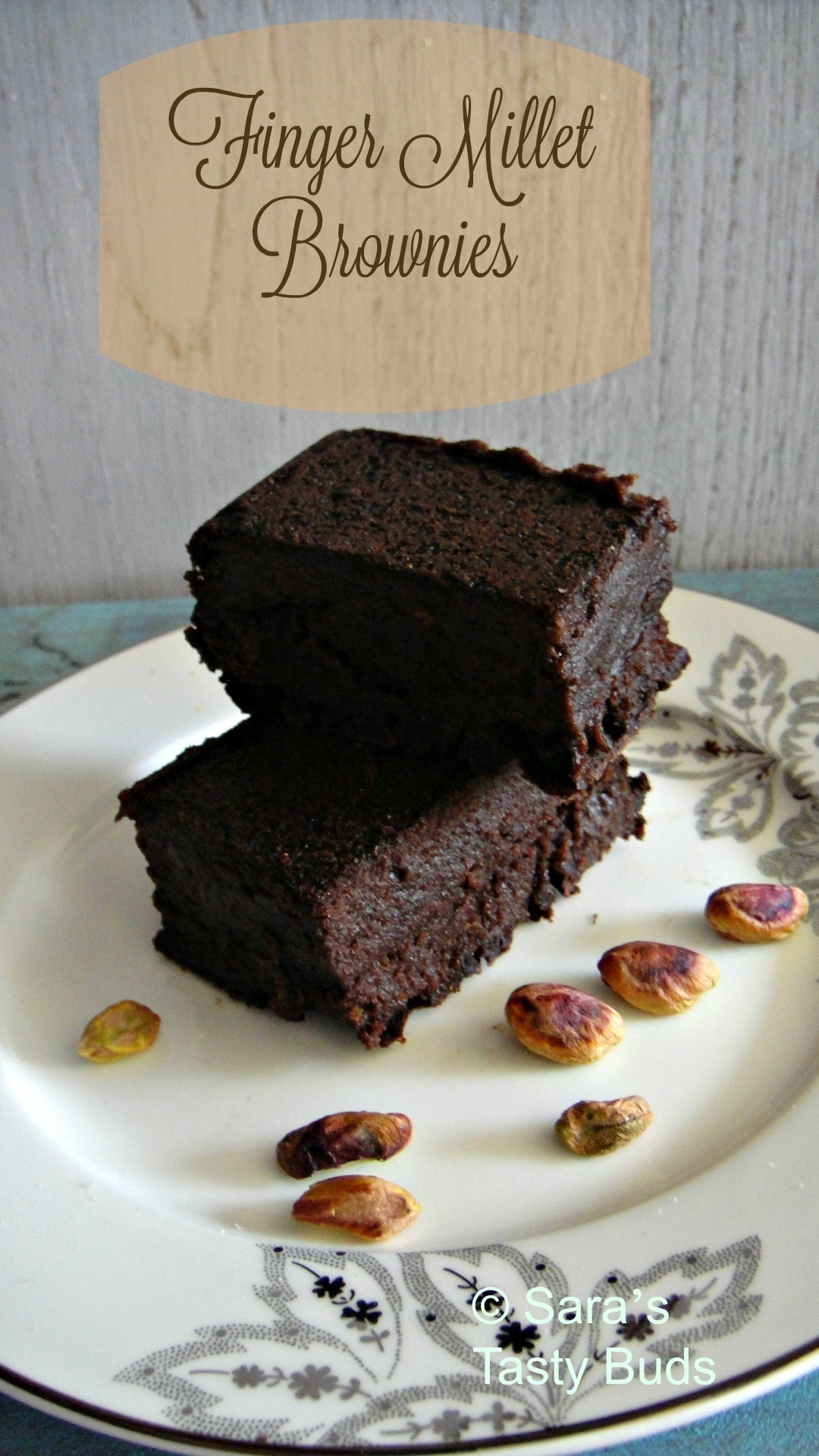 Fingermillet Brownies with sugarfree Natura - Eggless and Diabetic Friendly