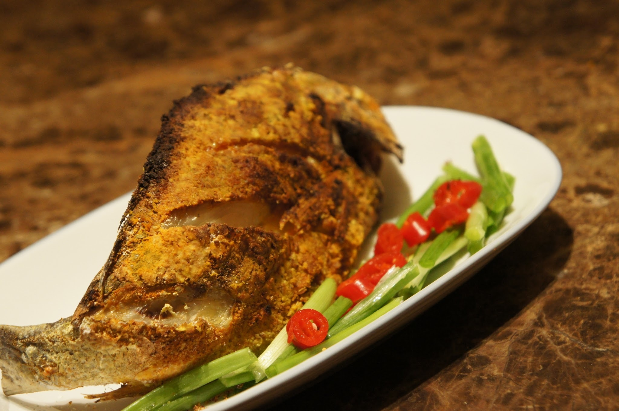 Air-Frying Fun : Tumeric Fried Fish 家常黄姜煎鱼