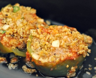 Easy Weeknight Meals: Vegetarian Crock-Pot Stuffed Peppers