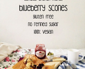 have your blueberry scones: gluten, sugar, dairy and guilt free! ♥ { detox blueberry scones }