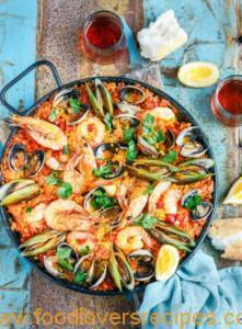SEAFOOD PAELLA WITH SAFFRON