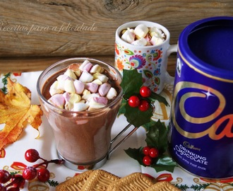 Chocolate quente de Natal com Marshmallows