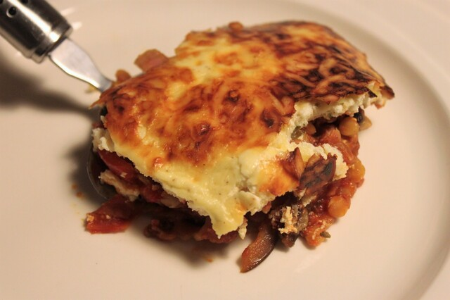 Vegetarische moussaka