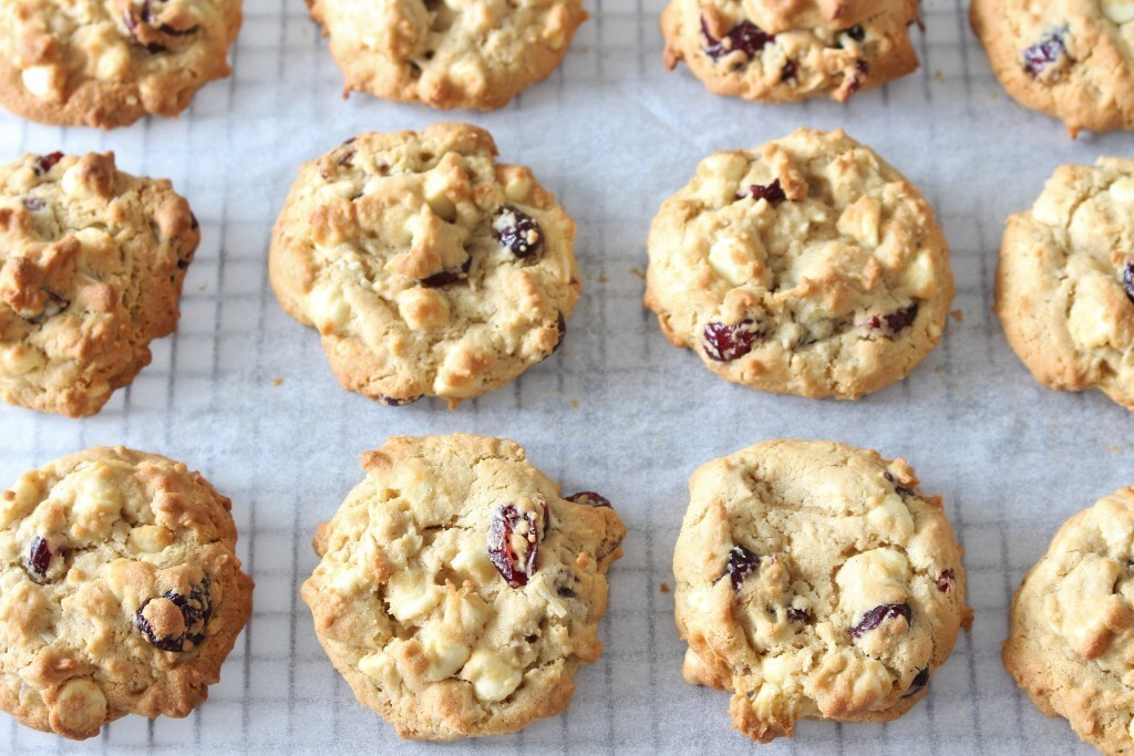 Cranberry, Coconut and White Chocolate Cookies | Gluten Free
