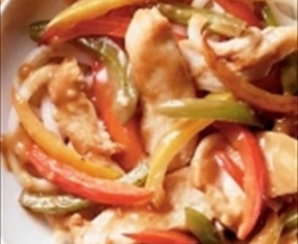 Honey-Garlic Chicken and Sweet Pepper Stir-Fry