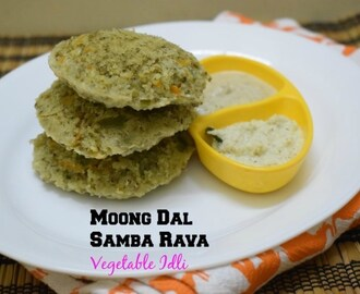 Moong Dal Samba Rava Vegetable Idli ~ Healthy Recipe for Diabetics