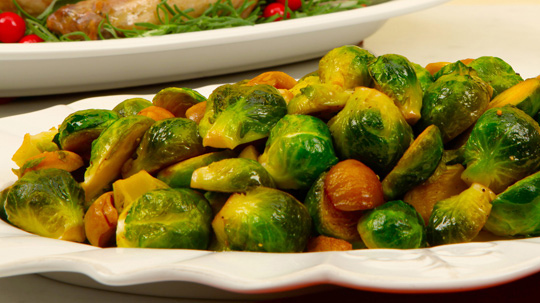 Brussels Sprouts with Chestnuts and Marsala