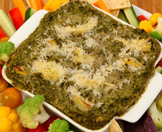 Hot Swiss Chard and Artichoke Dip