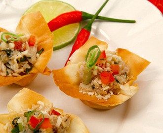Thai Crab Salad Phyllo Cups
