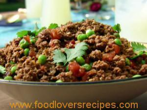 KHEEMA INDIAN GROUND BEEF WITH PEAS