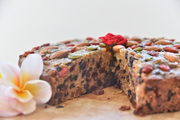 No Added Sugar, Gluten Free Christmas Cake