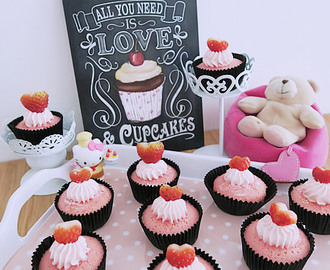 Bandung Cupcakes & Rose-syrup Buttercream