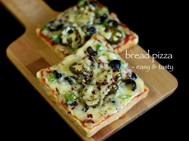 bread pizza recipe | veg bread pizza recipe | vegetable bread pizza