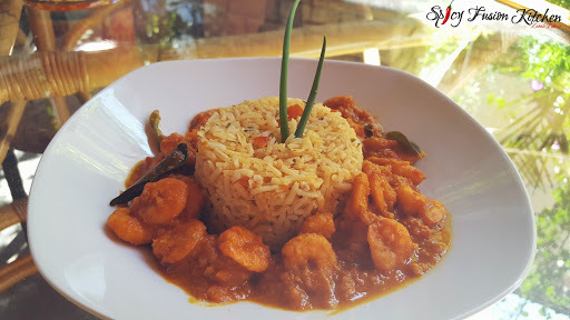 Prawns Curry and Spicy Rice