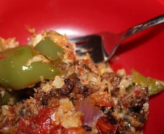 Low Carb Stuffed Peppers Skillet - Easy Low Carb Recipe