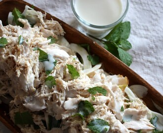 Ginger Poached Chicken with Fennel and Apple Slaw