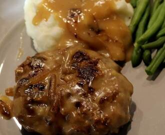 Old Fashion Salisbury Steak with Onion Gravy