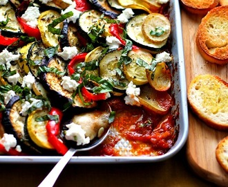 Hearty Ratatouille with Goat's Cheese #WeekdaySupper #Giveaway