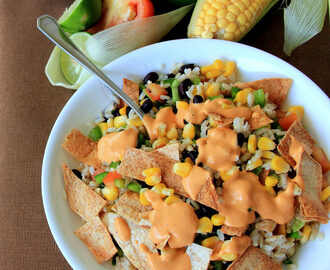 Mexican Salad with Subway Style Chipotle Southwest Sauce - Homemade Southwest sauce - Kids friendly recipe - Salad recipes
