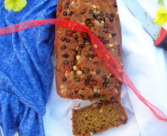 Pumpkin Bread With Wheat Flour / Healthy Eggless Pumpkin Cake