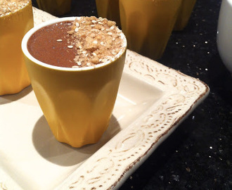 Chocolate Mousse with Sweet Dukkah