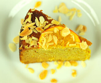 Orange and cardamom cake (dairy-free and sugar-free)