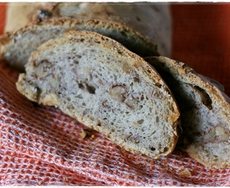 Pane alle noci a lievitazione naturale – Sourdough walnut bread