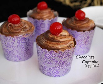 CHOCOLATE CUP CAKE -  EGGLESS CUPCAKE RECIPE