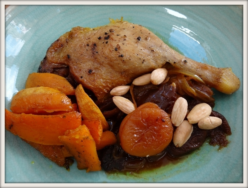 Tajine de canard aux fruits secs