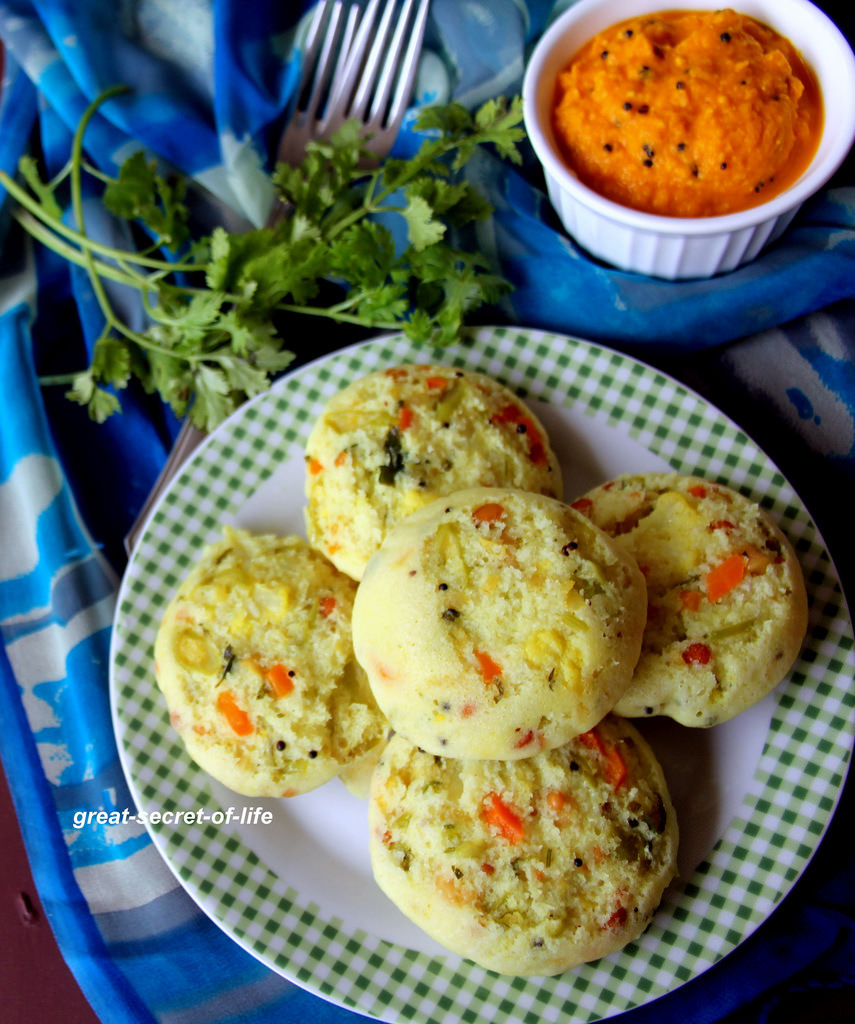 Masala Idli - Mixed Vegetable Idli - Breakfast recipes - Dinner Recipes