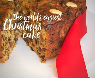 the world's easiest Christmas cake