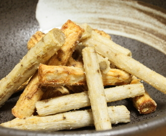ごぼうの生姜風味揚げ Fried burdock of the ginger flavor