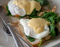 eggs florentine with home made hollandaise sauce