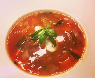 Spicy rød linsesuppe