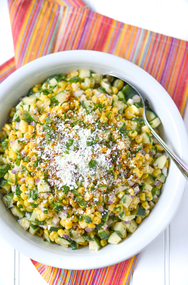 Mexican Street Corn and Cucumber Salad
