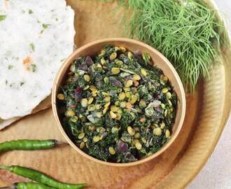 Dill leaves Stirfry | North Karnataka Style