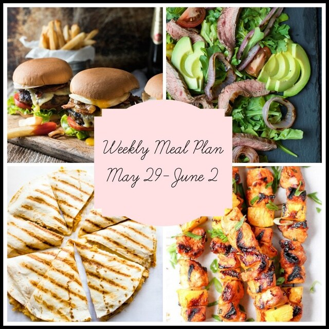 Memorial Day Foods + Leftover Recipes: Meal Plan Week of May 29-June 2