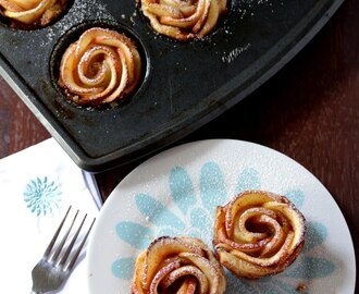Baked Apple Roses – Apple Roses with Puff Pastry