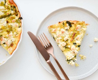 Quinoa Quiche met Prei & Feta van Chicks Love Food
