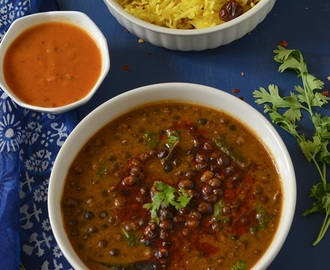 Kala Vatana Amti Recipe ,Black Pea Curry