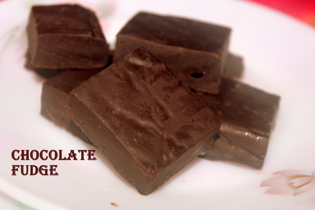 Chocolate fudge recipe –  How to make chocolate fudge with choco chips and condensed milk recipe