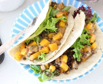 Butternut and Lentil Tacos with Tahini-Miso Sauce | vegan | gluten free